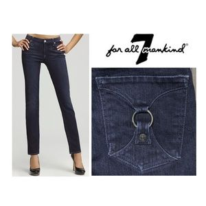 7 For All Mankind Dark Straight Leg Jeans Buckle